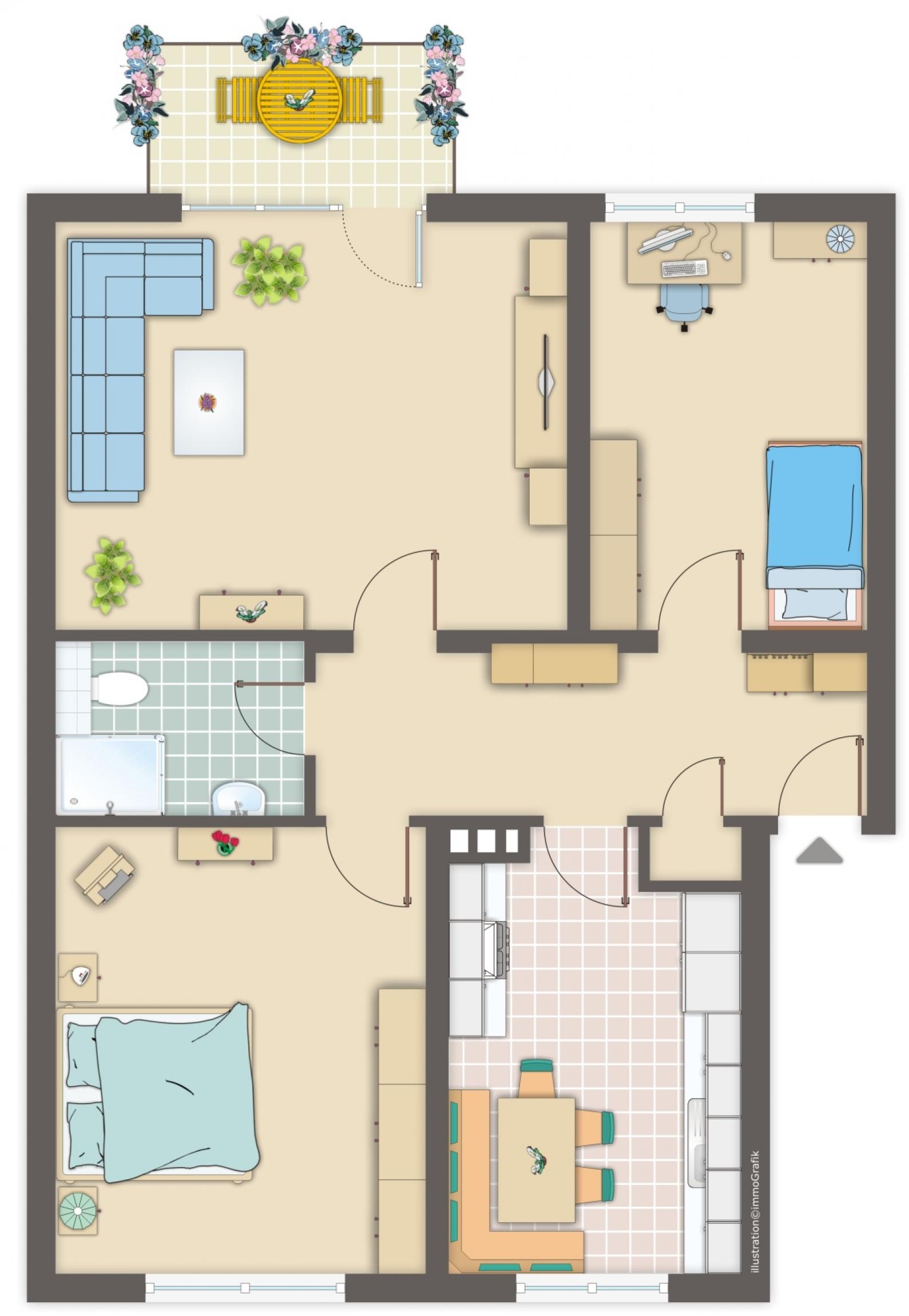 wohnung vermieten rendite. Black Bedroom Furniture Sets. Home Design Ideas